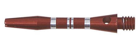Winmau Shaft Alu Stripe rot short ca. 35 mm (3 Stück)