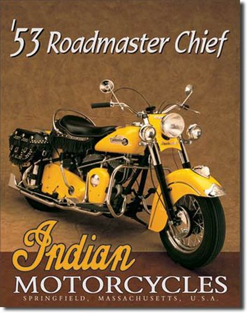 Winsport Blechschild Indian Roadmaster