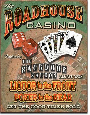 Winsport Blechschild Roadhouse Casino