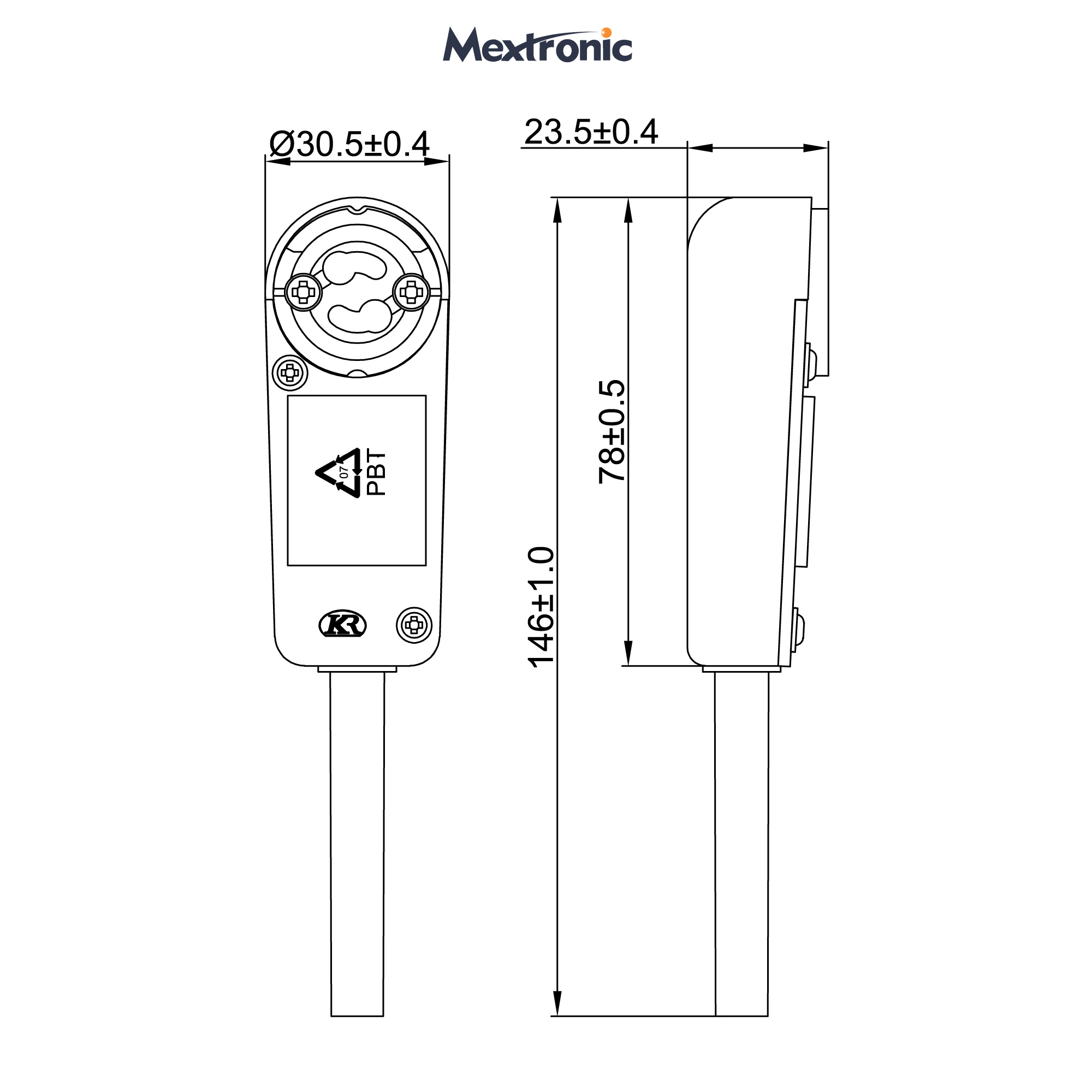 Mextronic Halogen-Lampensockel GU10 10 Stk. 190-230V VDE-Fassung