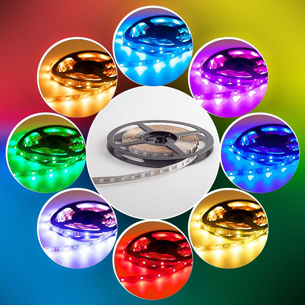 LED Strip 5050 RGB+Warmweiß (2700K) 72W 500CM 24V IP20