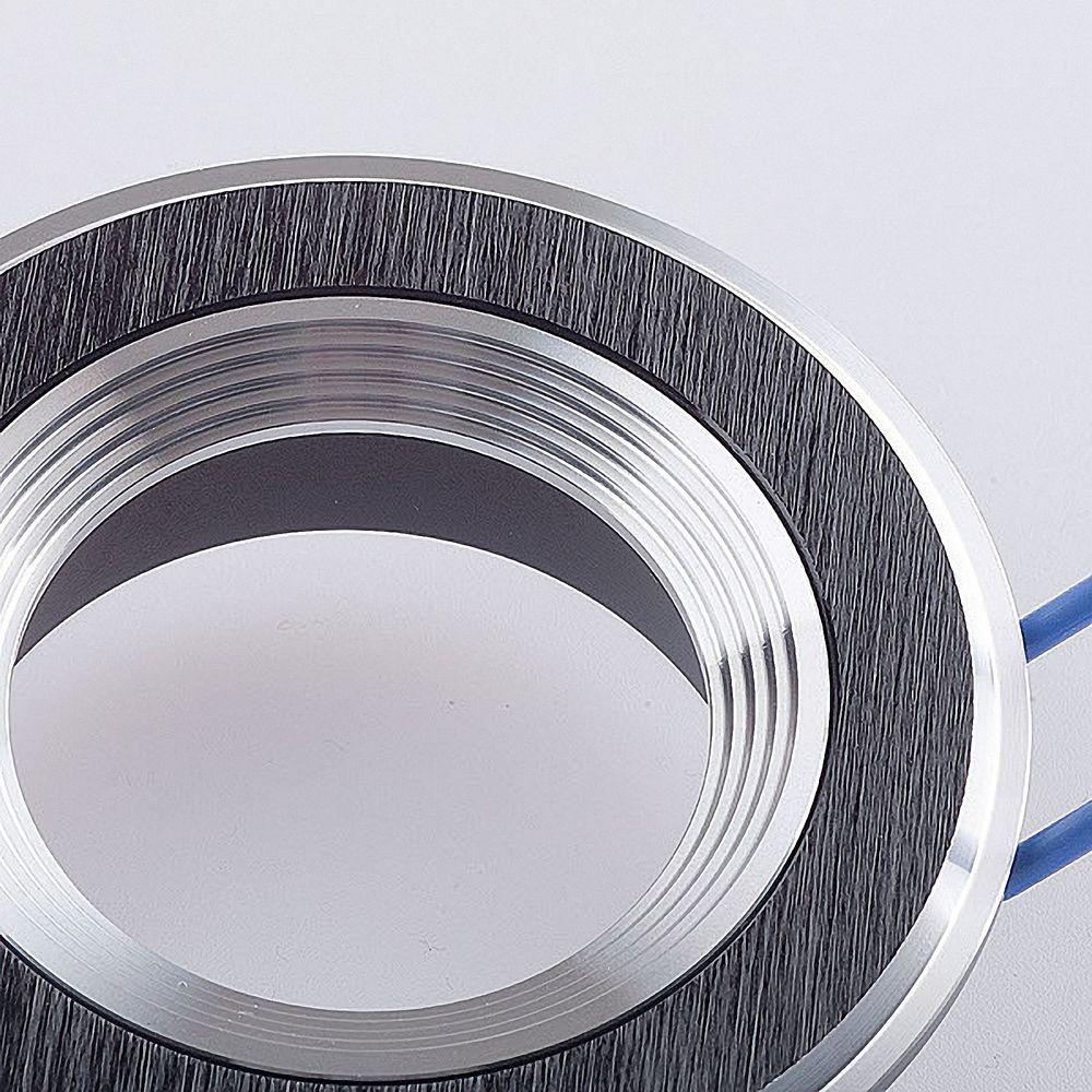 Deckeneinbauring rund Alu schwarz gebürstet 6233 Ø 59mm