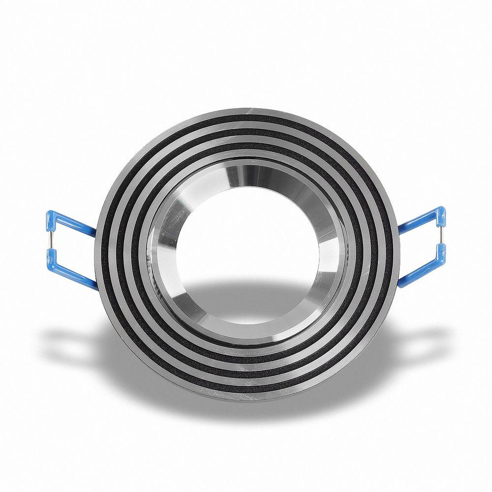 Deckeneinbaurahmen schwenkbar schwarze Ringe rund 6342 Ø 73mm