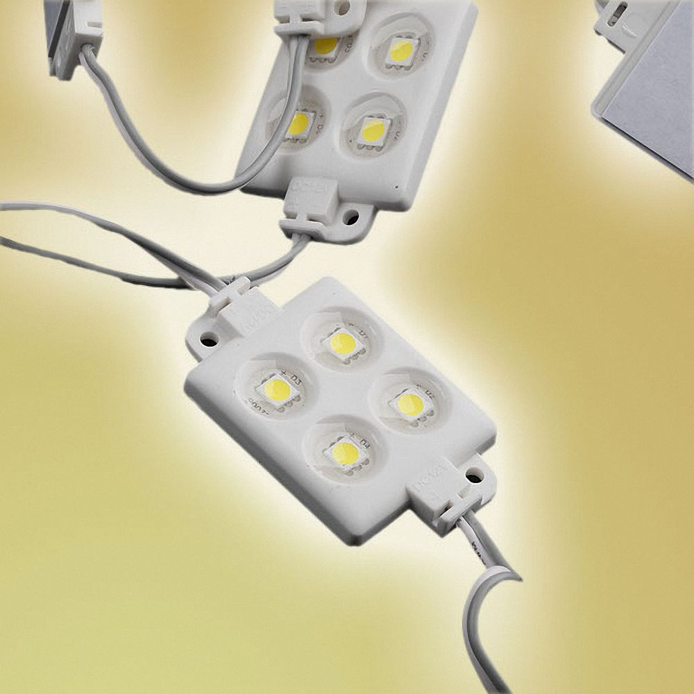 20x LED Module 4xPower SMD LEDs Warmweiß Wasserdicht 12V