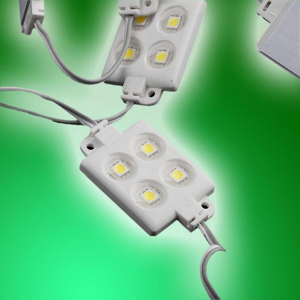 20x LED Module 4xPower SMD LEDs Grün Wasserdicht 12V