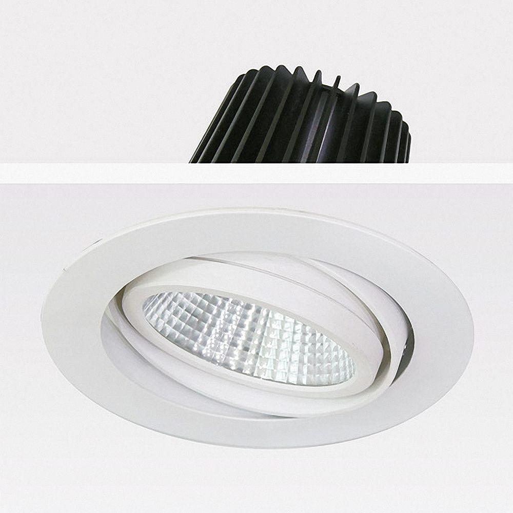 40W LED Einbauleuchte EXLITE-R 3000K Warmweiß schwenkbar Ø 175mm