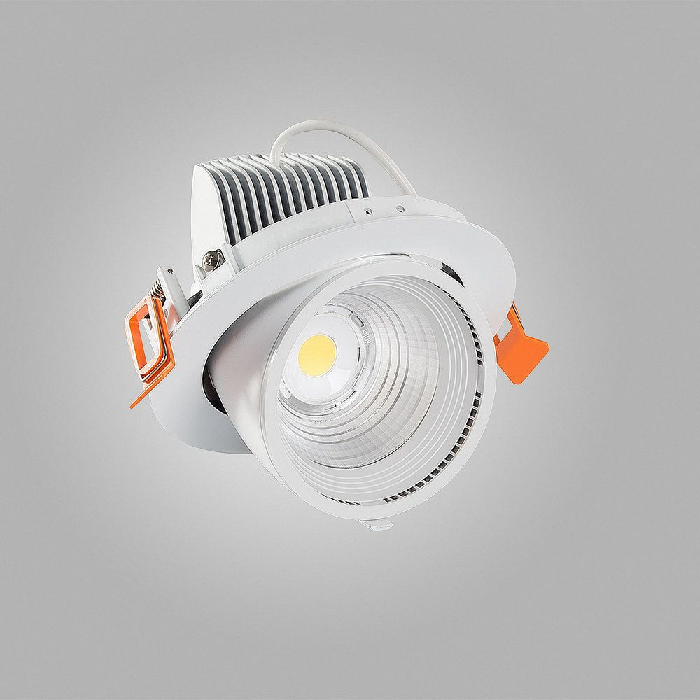 40W LED Einbauleuchte TRUNK 3000K Warmweiß schwenkbar Ø 148mm