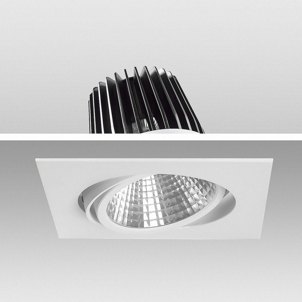 40W LED Einbauleuchte EXLITE-Q 3000K Warmweiß schwenkbar Ø 175mm