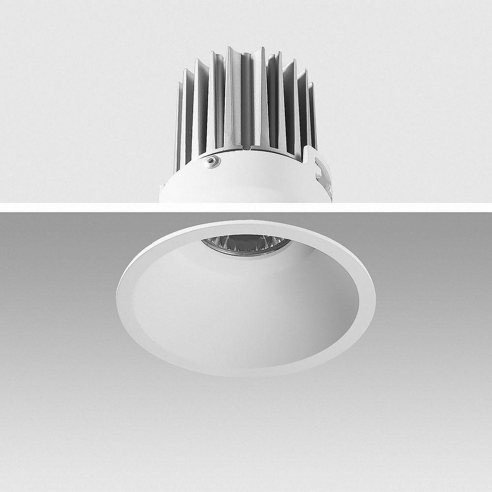 LED Einbauleuchte 4000K Neutralweiß 9W 02-90C rund Ø 90mm