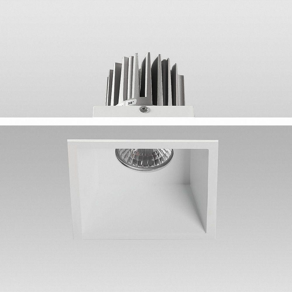 LED Einbauleuchte 3000K Warmweiß 9W 02-90S eckig Ø 90x90mm