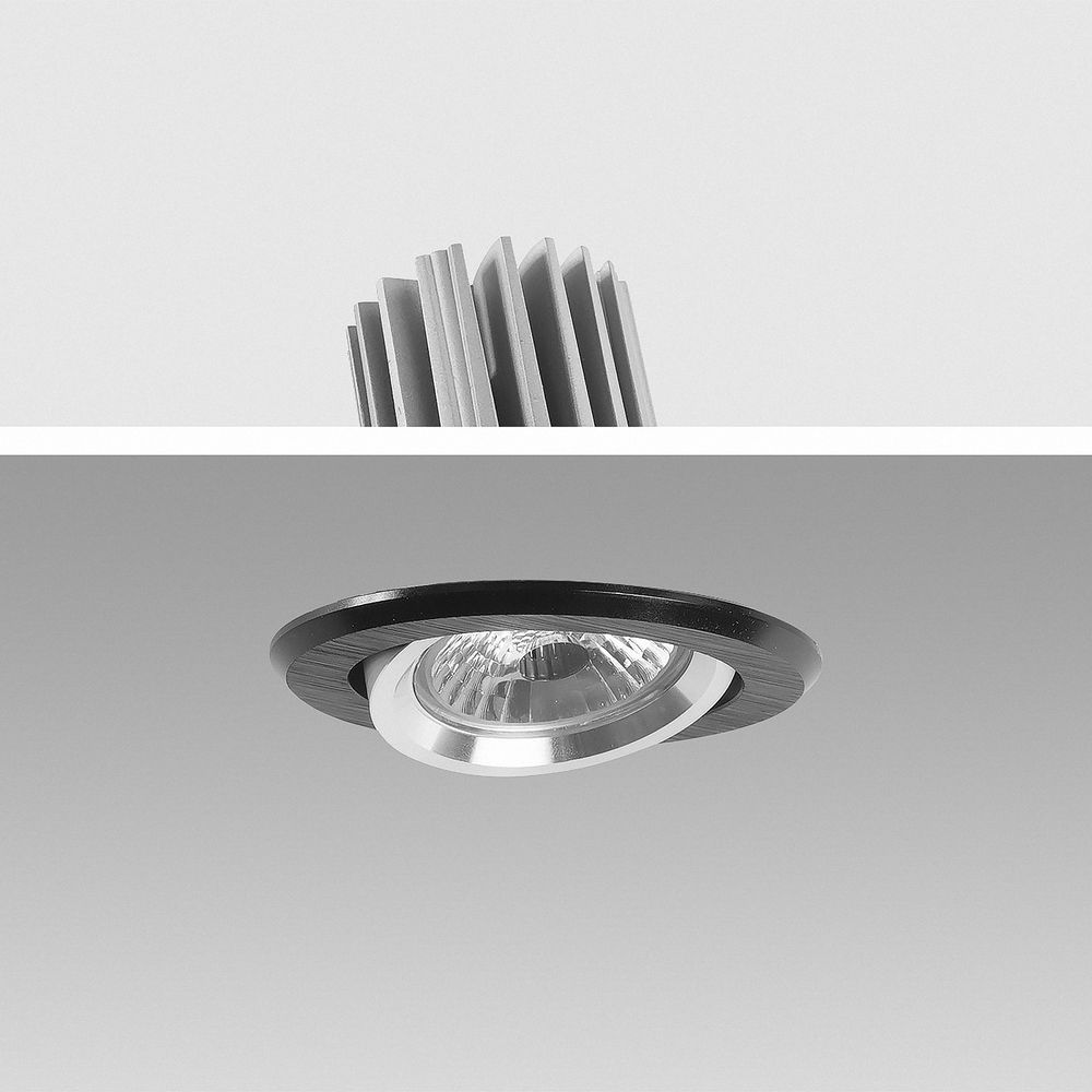 LED Einbauleuchte 2700K Warmweiß 9W 16302-5 dimmbar Ø 67mm
