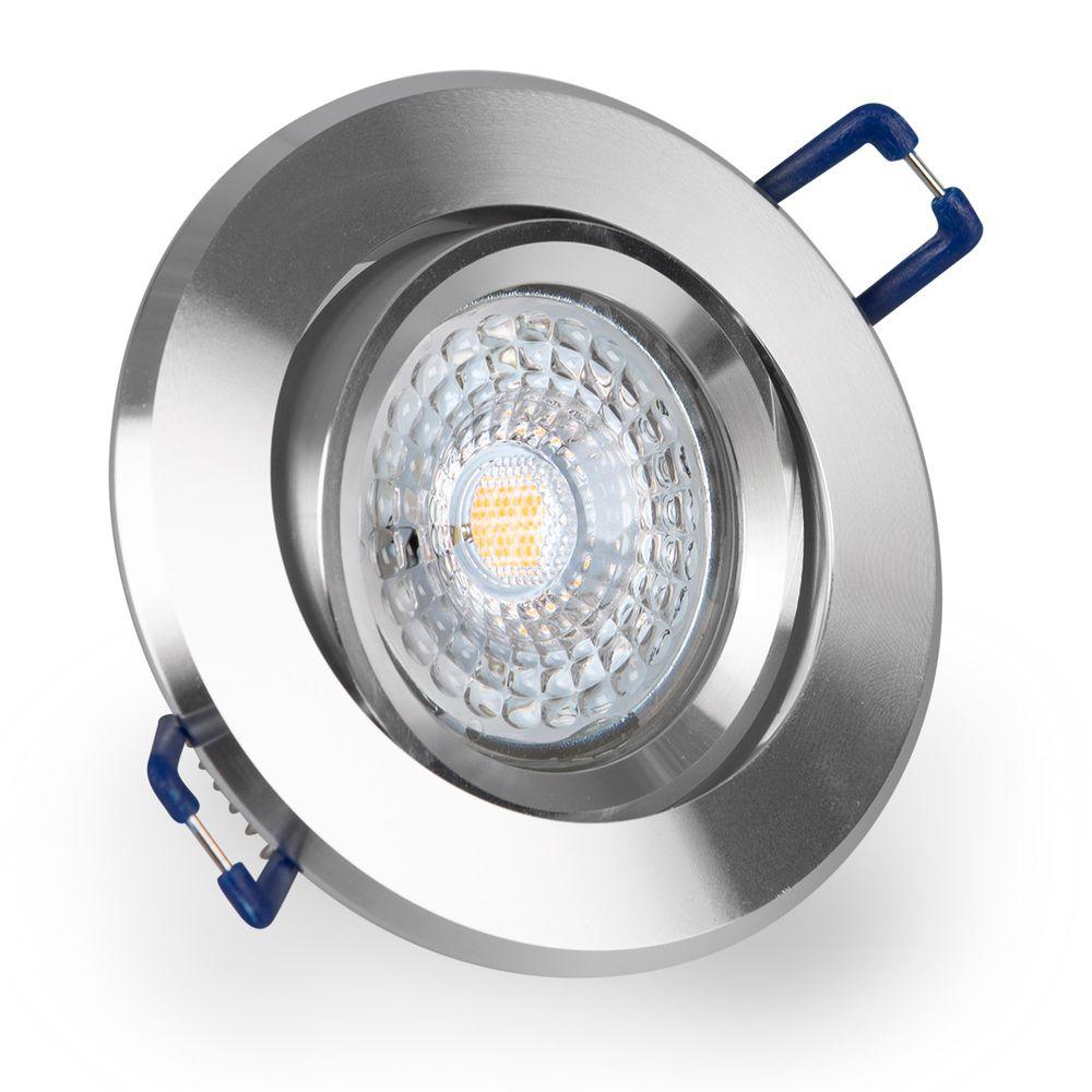 LED 6W 6500K Weiß Einbauleuchte GU10 16302-1 Ø 67mm