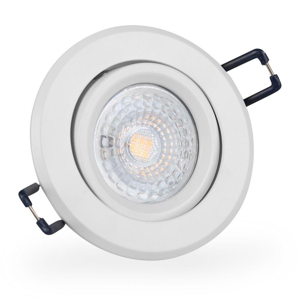LED 6W 6500K Weiß Einbauleuchte GU10 16302-3 Ø 67mm