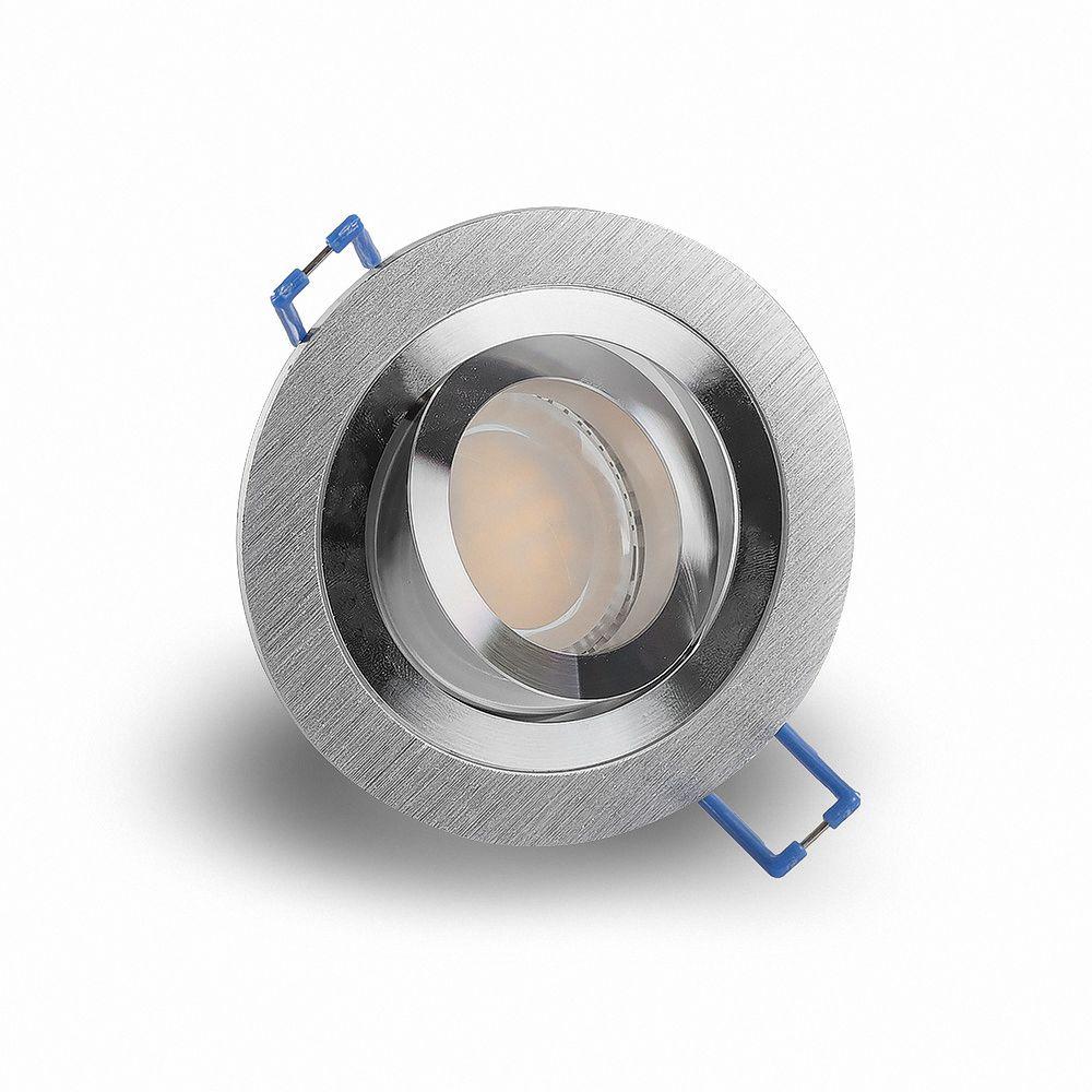 LED 6W 6500K Weiß Einbauleuchte GU10 6611 Ø 81mm