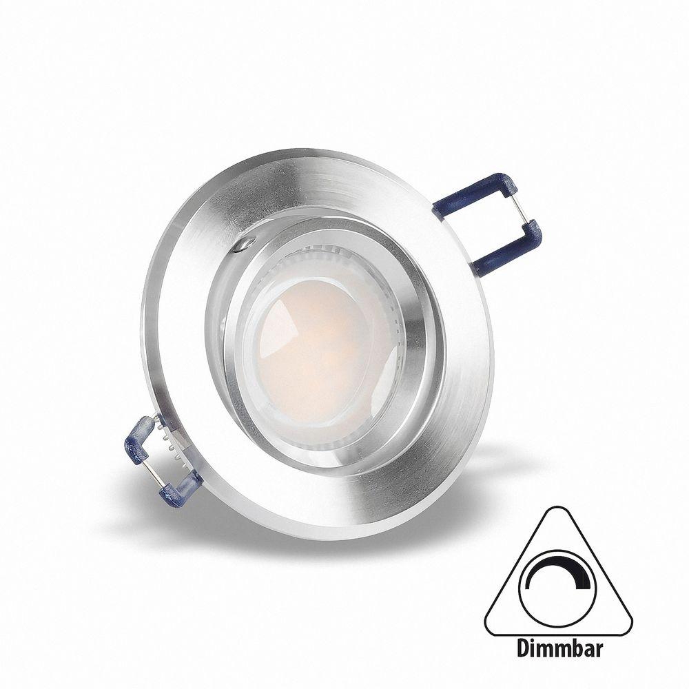 LED 5W Warmweiß Einbauleuchte MR16 GU5.3 Rund 16302-1 dimmbar Ø 67mm
