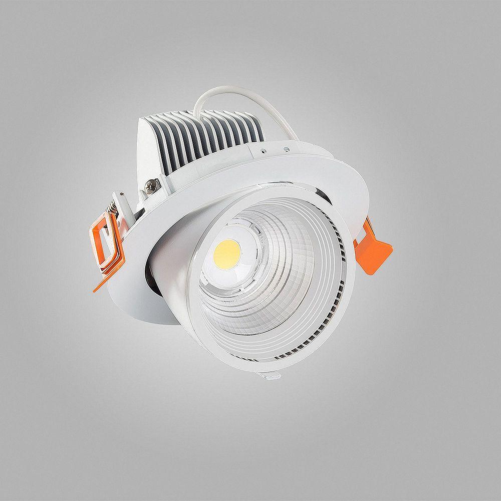 30W LED Einbauleuchte TRUNK 3000K Warmweiß schwenkbar Ø 148mm