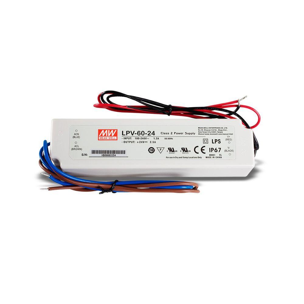 Mean Well LPV-60-24 Schaltnetzteil,  24V / 2,5A / 60W IP67