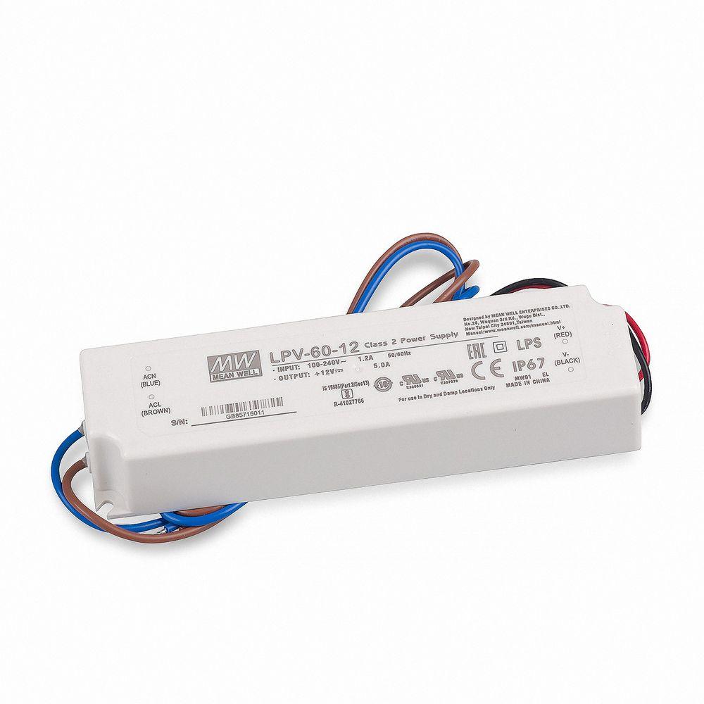 Mean Well LPV-60-12 Schaltnetzteil, 12V / 5A / 60W IP67
