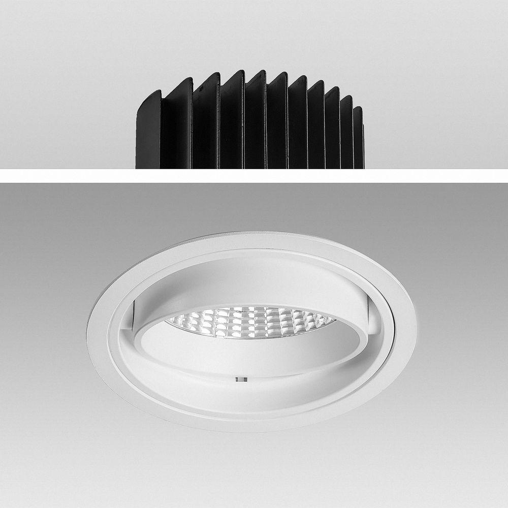 LED Einbauleuchte Genius 50W 830 Warmweiß S6081 Ø 170mm