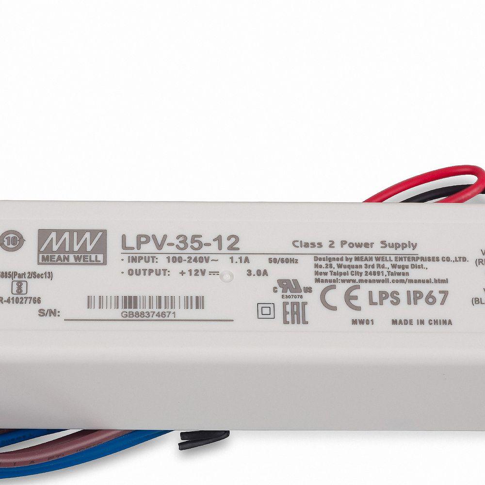 Mean Well LPV-35-12 Schaltnetzteil, 12V / 3A / 36W IP67