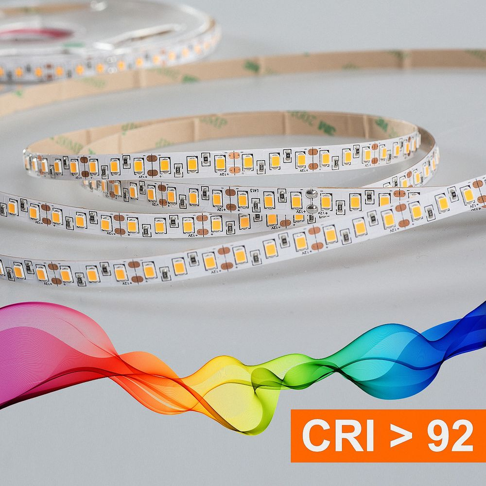 LED Strip 2835 Warmweiß (3000K) CRI 92 72W 5 Meter 12V IP20