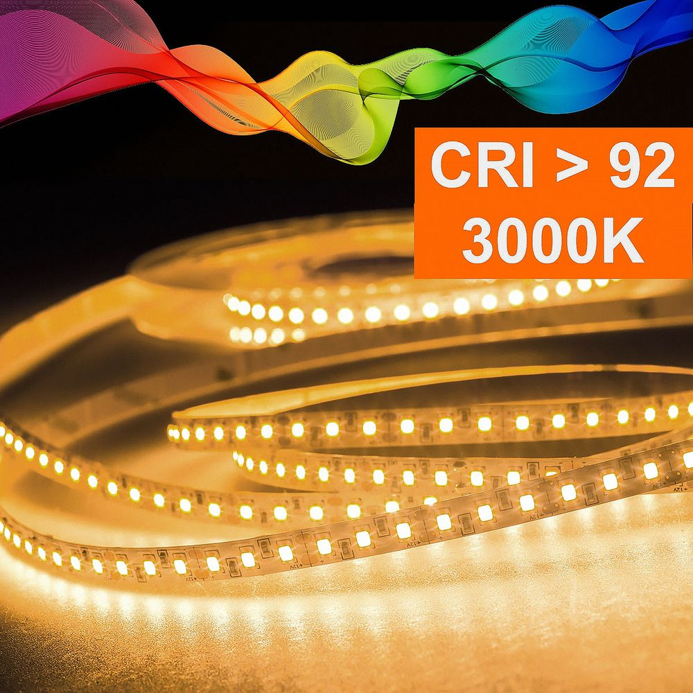 LED Strip 2835 Warmweiß (3000K) CRI 92 72W 5 Meter 24V IP20