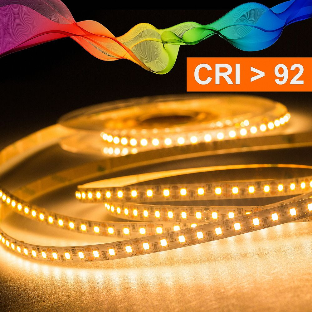 LED Strip 2835 Warmweiß (2700K) CRI 92 36W 5 Meter 12V IP20