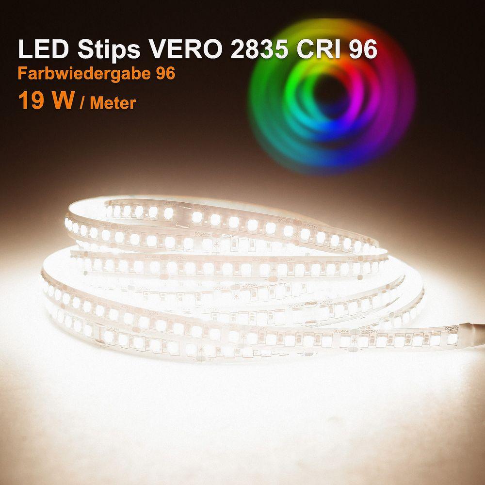 LED Strip VERO Neutralweiß (4000k) CRI 96 96W 5 Meter 24V IP20