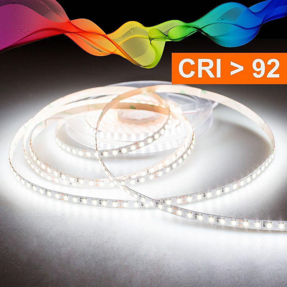 LED Strip 2835 Kaltweiß (5700k) CRI 92 36W 5 Meter 24V IP20