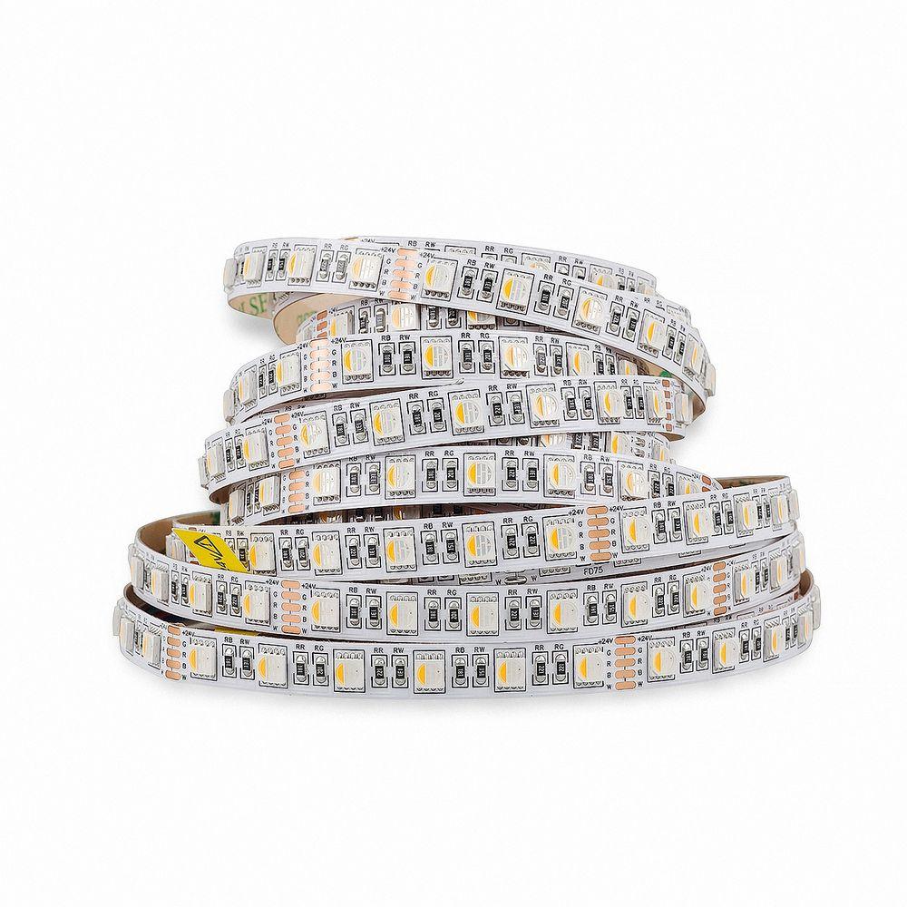 LED Strip 5050 RGB+Warmweiß (2700K) 90W 500CM 24V IP20