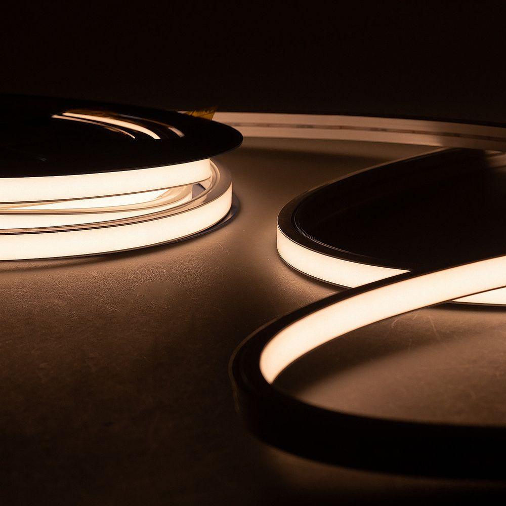 LED Neon Strips T02 Topview 3000K Warmweiß 10 Meter 24V 90W IP67