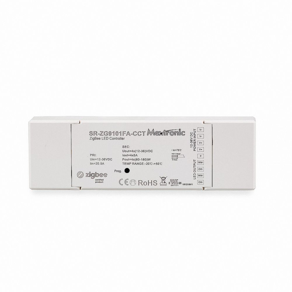 LED CONNEX Zigbee Tunable White Dimmer 12-36V DC bis 4x5A