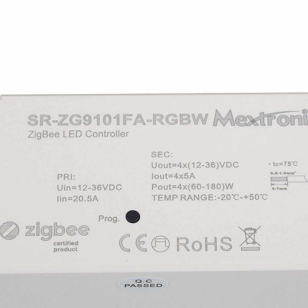 LED CONNEX Zigbee RGB / RGBW Dimmer 12-36V DC bis 4x5A