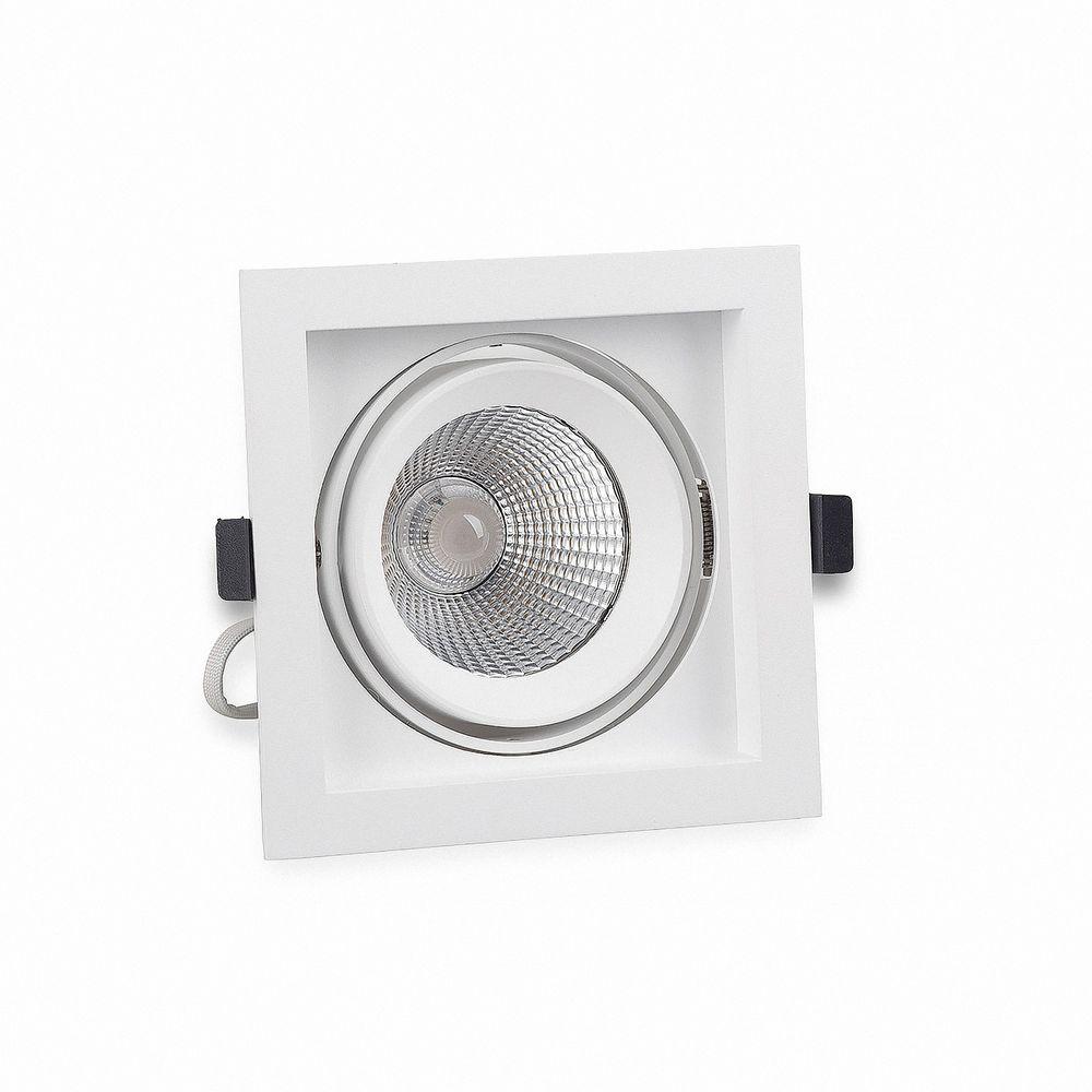 LED Einbaustrahler Genius 20W 930 Warmweiß GL0111W Ø 120x120mm