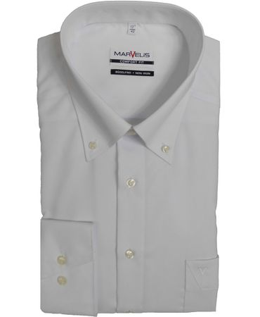 Marvelis Hemd Comfort Fit Button-Down weiss - 7971.64.00