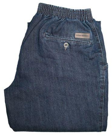 Herren Jeans Stretch Schlupfhose Amberg 01-8325/18 dunkelblau – Bild 3