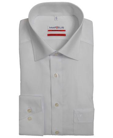 3 Stück Marvelis Hemd Modern Fit uni weiss - 4700.64.00
