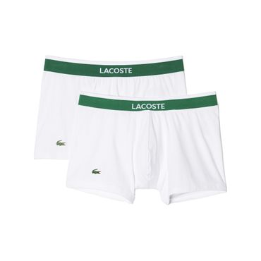 LACOSTE 2er Pack Trunks Boxer Courts 148295 Fb. 100 weiss / white – Bild 1