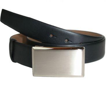 Lindenmann Ledergürtel Koppel Gürtel 35 mm breit 1007004 010 schwarz
