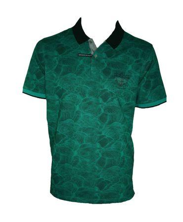 hajo Poloshirt Kurzarm Shirt 25604 679 grün gemustert – Bild 2