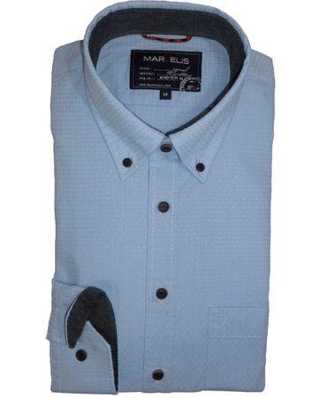 Marvelis Freizeithemd Hemd Casual Langarm hellblau gemustert 6011.64.11