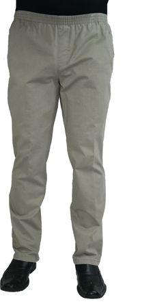 Herren Jeans Stretch Schlupfhose Amberg 28-4015/30 beige mit Struktur – Bild 1