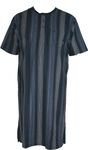 hajo Nachthemd Kurzarm 1/2 Arm 52954 609 marine gestreift  Klima Komfort 001