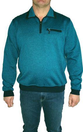 HS Navigazione Sweatshirt Langarm 13532 0805 petrol meliert – Bild 1