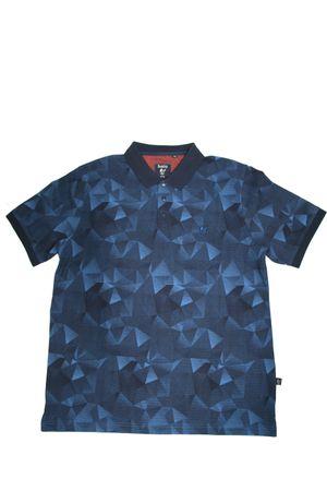 hajo Poloshirt Kurzarm Shirt 25845 609 blau gemustert
