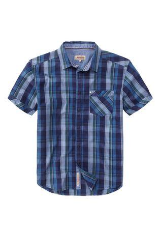 Paddocks Freizeithemd Kurzarm blau / grün Karo 33119.1021.0875
