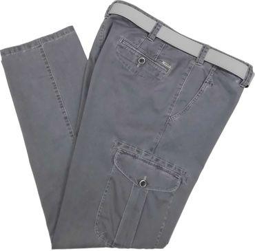 Meyer Herren Cargo Stretch Hose mit Gürtel Nepal 1-5001 / 07 grau – Bild 1
