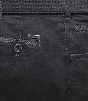 MEYER  Herren Stretch Hose Jeans Dublin mit Gürtel 2-5557 / 08 anthrazit – Bild 5