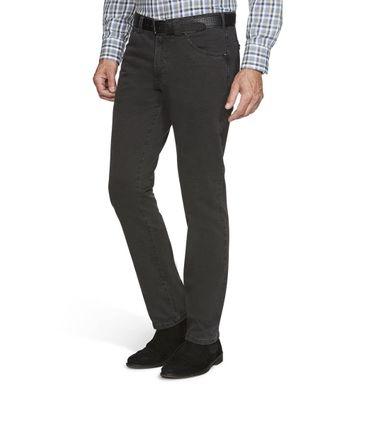 MEYER  Herren Stretch Hose Jeans Dublin mit Gürtel 2-5557 / 08 anthrazit – Bild 1