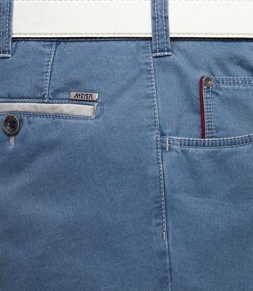 Meyer Herren Stretch Hose Fairtrade Diego mit Gürtel 1-5001 blau oder grau – Bild 9
